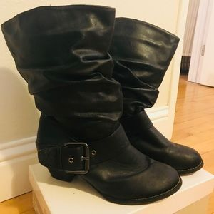 Forever 21 Black Buckle Boots